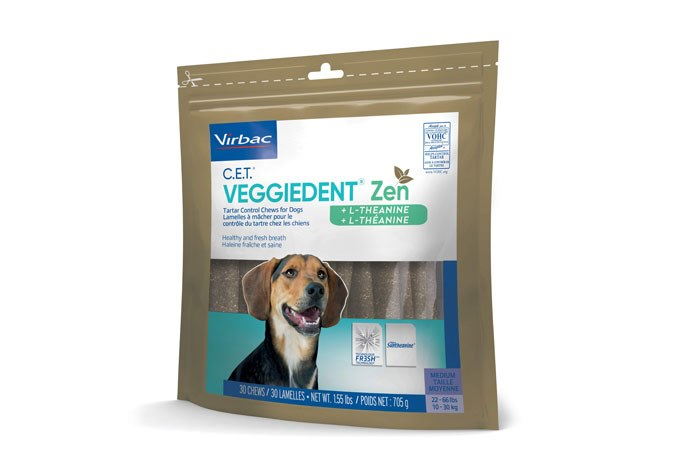 Virbac has announced the launch of VeggieDent Zen, described as multi-functional chews designed for dogs who need a little extra help in daily relaxation.