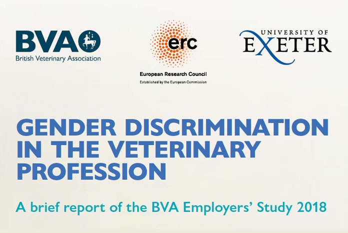 The BVA has published the interim results of a new study which seems to provide the best evidence yet that the veterinary profession still discriminates against female veterinary surgeons.
