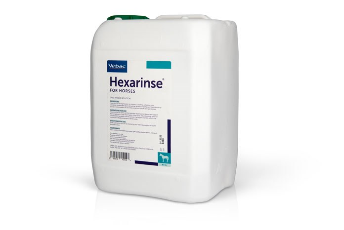 Virbac has launched Hexarinse for Horses, an oral rinsing solution containing dilute chlorhexidine gluconate, prepared specifically for horses.