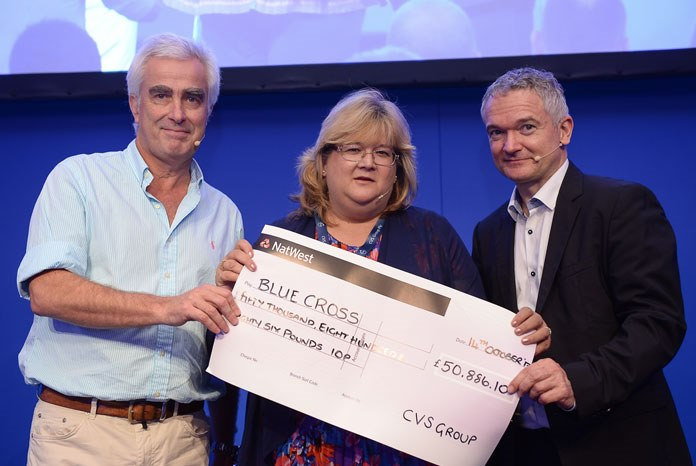 CVS has presented its 2017 charity of the year, Blue Cross, with a cheque for £50,886 raised through fundraising at its veterinary sites and businesses across the UK.
