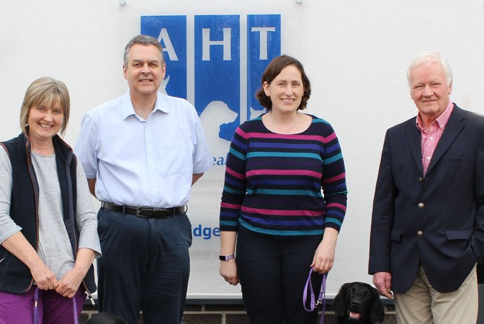Photo: Liz Branscombe, Dr Mike Starkey and Dr Anna Hollis of AHT and Brian Jones of FCRS Rescue, Rehousing and Welfare.