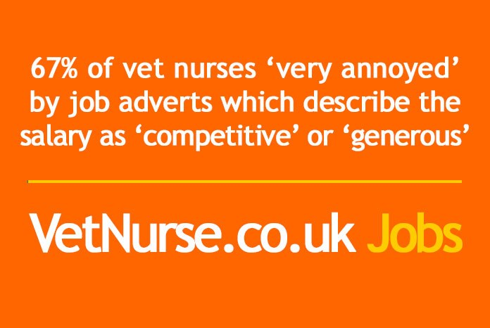 A survey carried out by VetNurse.co.uk Jobs and VetSurgeon.org Jobs has concluded that both veterinary  nurses and surgeons want potential employers to be up front about the salary they're offering, and many will simply ignore advertisements that don't contain this information.