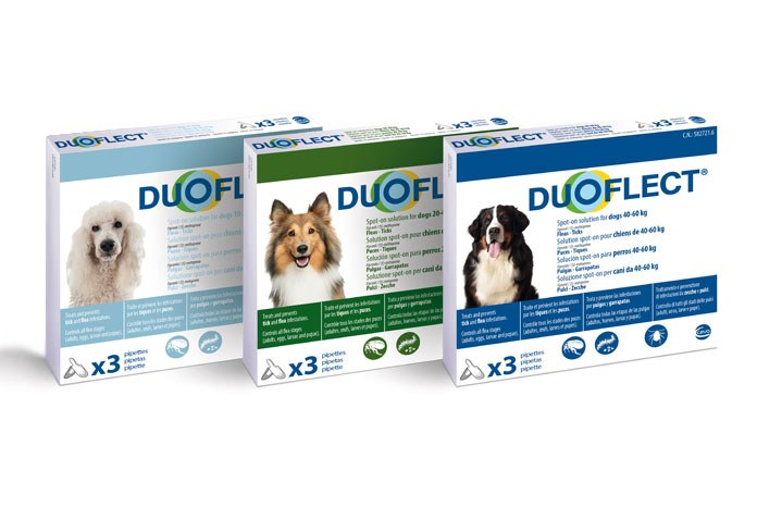 Ceva Animal Health has launched Duoflect, a new spot on for the treatment and prevention of flea and tick infestations in cats and dogs and their environment.