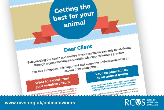 The RCVS has published a new waiting room poster which details what pet owners and veterinary professionals should expect from each other.