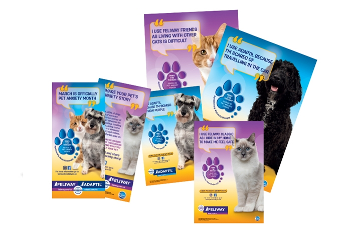 Ceva Animal Health, maker of Adaptil and Feliway, has made March 'Pet Anxiety Month'.